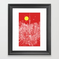Toronto! Red (Version #2… Framed Art Print