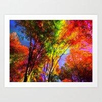 Magic Trees Art Print