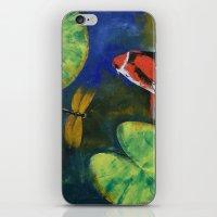 Showa Koi And Dragonfly iPhone & iPod Skin