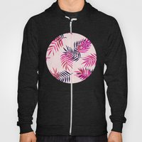 Pink Palm Pattern Hoody