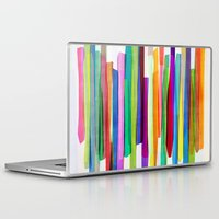 stripes Laptop & iPad Skins featuring Colorful Stripes 1 by Mareike Böhmer Graphics and Photography