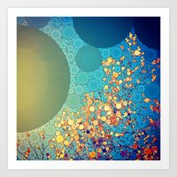Sky And Leaves Art Print