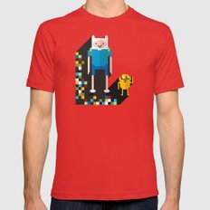 finn the pixel Mens Fitted Tee Red SMALL