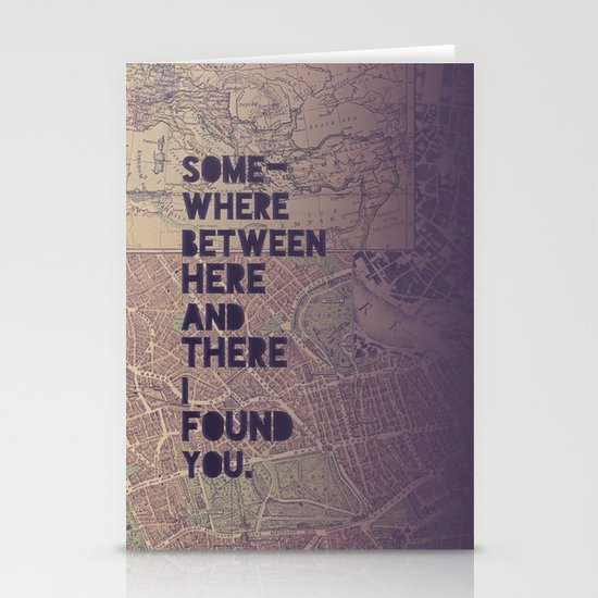 Here & There Stationery Card