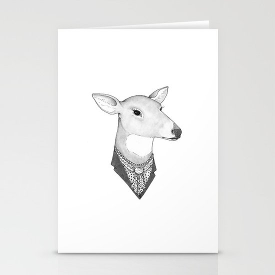 Mrs. Deer Stationery Card