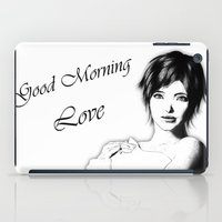 Good Morning Love iPad Case