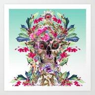 Momento Mori Floral Art Print