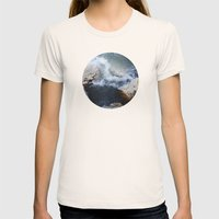 Planetary Bodies - Waves Womens Fitted Tee Natural SMALL