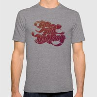 Live Fast Die Young Mens Fitted Tee Athletic Grey SMALL