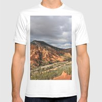 Red Canyon Mens Fitted Tee White SMALL