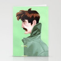 Brunette Man Stationery Cards