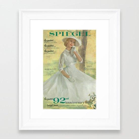 1957 Spring/Summer Catalog Cover Framed Art Print