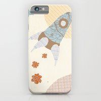 iPhone & iPod Case featuring spaceship collage by flying bathtub