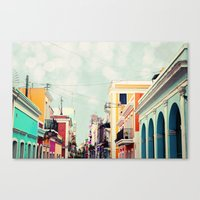 Colorful Buildings Of Ol… Canvas Print