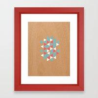 Triangle/wood Framed Art Print