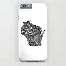 Typographic Wisconsin Slim Case iPhone 6s