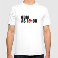 GDM AS F*CK Mens Fitted Tee White SMALL