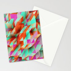 Polygons Sphere Abstract Stationery Cards