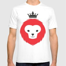 Little Lion Man Mens Fitted Tee White SMALL