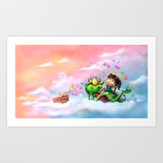 Butterflies Picnic In The Sky Art Print