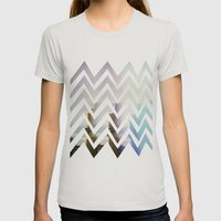 in front Womens Fitted Tee Silver SMALL