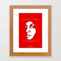 The Freaky Red Poster Framed Art Print