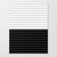 Pebbles 1 Blk/Wht Canvas Print