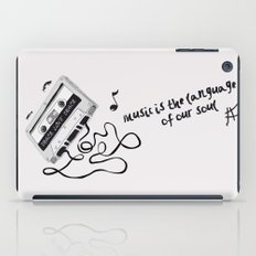 music is the language of our soul. iPad Case