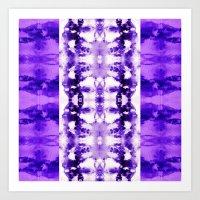 Tie Dye Purples Art Print