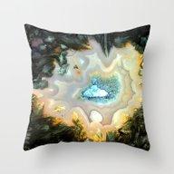 Geode Fairyland - Invert… Throw Pillow