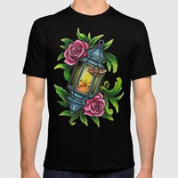 A Moth To The Flame Mens Fitted Tee Black SMALL