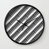Black And White Tiger St… Wall Clock