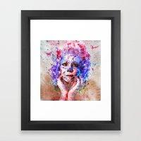 Sugar Skull splats Framed Art Print