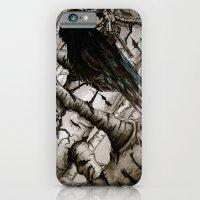 the raven girl iPhone 6 Slim Case