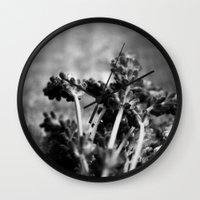 Lavender (Black & White) Wall Clock