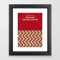 No169 My Twin Peaks minimal movie poster Framed Art Print