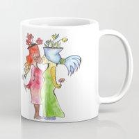 lesbian flower women kiss Mug
