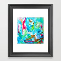 Le Aqua et Passion Framed Art Print