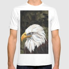 Eagle! SMALL White Mens Fitted Tee
