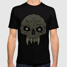 MAGIC SWAMP BLACK MANA SKULL Mens Fitted Tee Black SMALL