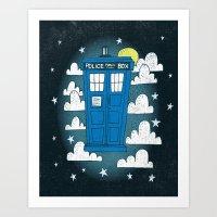 Blue Box Art Print