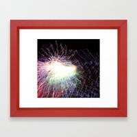 Electric night Framed Art Print