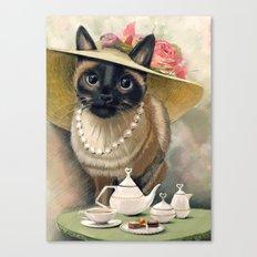 Lady Cat Canvas Print