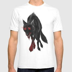 North American Predators - Wolf Mens Fitted Tee SMALL White