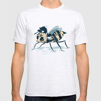 Polly Pollinator  Mens Fitted Tee Ash Grey SMALL