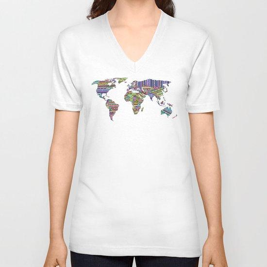 Overdose World V-neck T-shirt