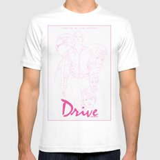 Drive Mens Fitted Tee SMALL White
