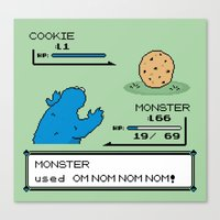 Cookiemon Canvas Print