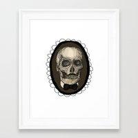 Dapper Skull  Framed Art Print