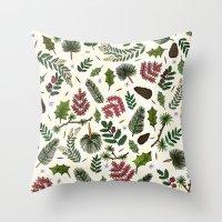 Winter Foliage  Throw Pillow